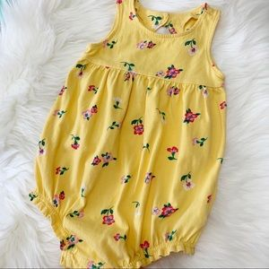 OLD NAVY Yellow Floral Romper Size 18-24 Months